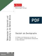 Rahmenplan Deutsch Als Zweitsprache - Berlin