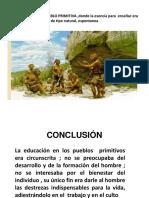Educación en La Pueblo Primitiva ,Donde La (1)