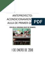 ANTEPROYECTO Escuela Virginia Ruiz
