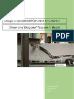 Shear and Diagonal Tension in Beam