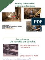 Perforación y Tronadura subterránea 2009 V1