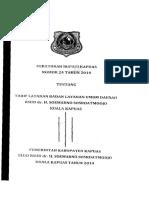 Perbup Kapuas Nomor 24 Tahun 2014 Tentang Tarif Layanan BLUD Dr. H. Soemarno Sosroatmodjo Kuala Kapuas