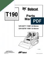 Bobcat T190 Compact Track Loader Parts Catalogue Manual SN 5277 11001 & Above.pdf