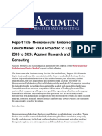 Neurovascular Embolectomy Device Market 2026 by Acumen Research and Consulting