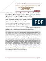 Potentialisation of the biocontrol efficacy of arbuscular mycorrhizas fungi against cocoa black pod rot causing Phytophthora megakarya with natural flavonoid