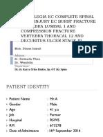 Paraplegia Ec Complete Spinal Cord Injury Ec Burst