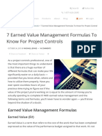 7 Earned Value Management Formulas for Project Controls