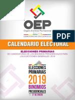 Calendario Electoral Elecciones Primarias 2019