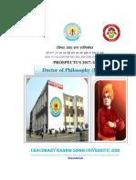 PhD Prospectus 2017-18