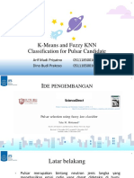 K-Means and Fuzzy KNN Classification for Pulsar Candidate