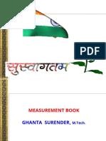 19 Measurement Book