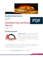 Woodfired Cafe and Restaurant in Glen Iris