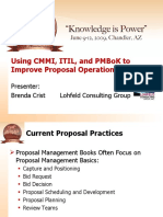 Using CMMI, ITIL, And PMBoK to Improve Proposal Operations - Brenda Crist 6-12-09