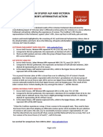 VIC ALP - It's the Mechanism Stupid - ALP and Victoria Benefits From Affirmative Action - Media Release