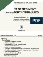 Basics of Sediment Transport Hydraulics