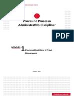 Módulo 1 - Processo Disciplinar e Prova Documental - EnAP - Provas No Processo Administrativo Disciplinar