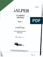 Galper Clarinet Method