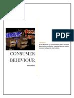Consumer buying behavior towards  Snicker.docx