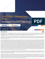 Access Bank - Diamond Bank Merger Investor Presentation December 2018