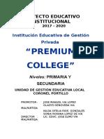 Pei College Premium 2017 2020