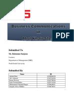 Abul Khair Steel Communication Final Report