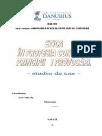 Etica in Profesia Contabila - Pricipii Si Provocari