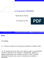 3 o Curso Preparatório PROFMAT