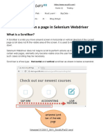 Scroll UP or Down a Page in Selenium Webdriver