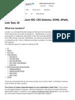 Locators in Selenium IDE_ CSS Selector, DOM, XPath, Link Text, ID