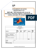 Laboratorio  03 MATLAB