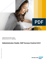 Admin Guide to SAP Access Control 12.0