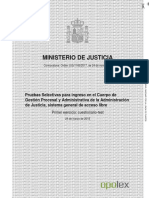 Gestion Procesal 2018 Cuestionario Test OPOLEX