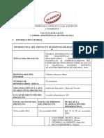 Proyecto Ec Psicologia IV k 2018 II Claudia Inca