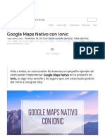 Google Maps Nativo Con Ionic
