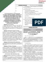 Ley Que Reconoce a Las Provincias de Canas Canchis Acomayo Ley n 30726 1609072 2