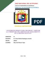 Analisis de Riesgo Para Mejorar y Ampliar La Cobertura Del Servicio de Saneamiento en La Region de Puno