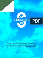 Convocatoria SIGESTIC'19