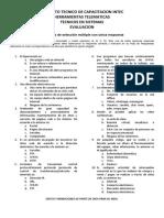 Evaluacion (Internet, Plataformas Virtuales)