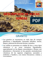 Descripcion de Rocas Igneas