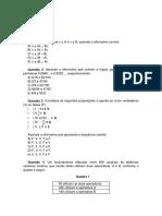Exercícios - Matemática