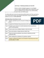 senior english honors credit - publishing option guidelines