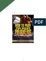 Praying Right