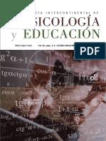 Revista Intercontinental de Psicología y Educación Vol. 20, núms 1 y 2