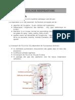 physiologie de respiration