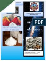 Minerales No Metálicos ( Leonel Cruz Ramos)