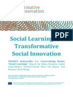 238 TRANSIT Deliverable D2 3 Social Learning for TSI