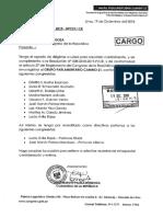 Cambio 21 formalizó pedido para registrarse como bancada