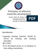 Principle of Materials Development