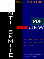 Jean-Paul Sartre - Anti-Semite and Jew - An Exploration of the Etiology of Hate