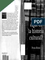 Peter Burke - ¿Qué Es La Historia Cultural?